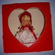 """Vintage Boxed Bisque Nancy Ann Storybook Doll - """"Queen of Hearts #157"""