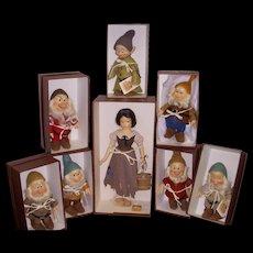 """MIB R John Wright """"Snow White and the Seven Dwarfs"""" Set from the Disney Snow White Series"""