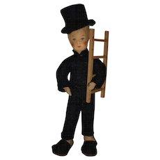 "Vintage Erna Meyer ""Chimney Sweep"" German Dollhouse Doll! - Red Tag Sale Item"