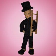 "Vintage Erna Meyer ""Chimney Sweep"" German Dollhouse Doll!"