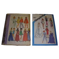 2 Vintage Doll Patterns for Barbie & Other Fashion Dolls - Red Tag Sale Item