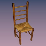 Vintage Miniature Wooden Doll Chair