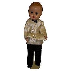 Vintage 1950s Hard Plastic Boy Doll