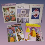 Lot of 5 Vintage Patterns