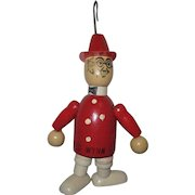 "Jaymar ""Ed Wynn - Fire Chief"" Vintage Wooden Jointed Figure"