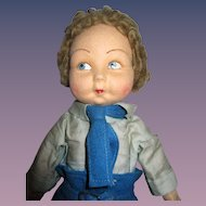 """Vintage Cloth Norah Wellings """"Jolly Toddler"""" Boy Doll with Label"""