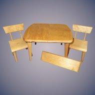 Vintage 1950s Strombecker Table and Chair Set