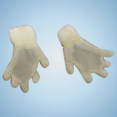 Vintage HTF 1950's Pair of Mary Hoyer Sheer Pastel Blue Gloves