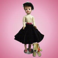 "Vintage 1956 Madame Alexander Cissy ""Walks the Dog"""