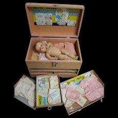 Vintage 1937 Rare Ideal Betsy Wetsy Trunk Set