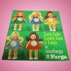 "Vintage Original HFT Furga ""Lara Lola Laura Lisa Lucia"" Doll Booklet"