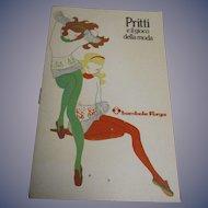 "Vintage Original HFT Furga ""Pritti Paola Peonia Perla"" Mod Doll Booklet"