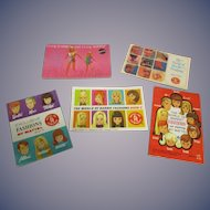 Vintage Original Mattel Barbie Booklets Lot of 5