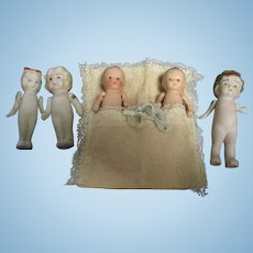 Vintage All-Bisque Dolls Lot of 5