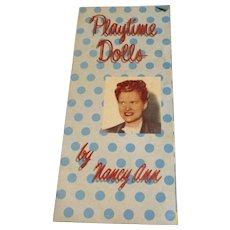 "Vintage 1950's Original ""Muffie Doll"" Booklet"