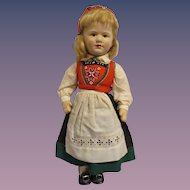 HTF Vintage Large Cloth Ronnaug Petterssen Girl Doll