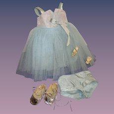 "Vintage Tagged Terri Lee ""Bridesmaid"" Gown Set"