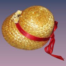 Vintage Terri Lee Straw Hat