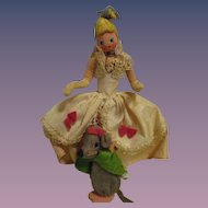 Vintage German BAPS Dolls of Cinderella and Mouse Set