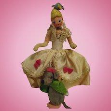 Vintage German BAPS Dolls of Cinderella and Mouse Set