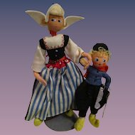 Vintage German BAPS Dolls of Hans Brinker and Mother Set