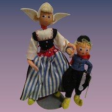 Vintage German BAPS Dolls of Hans Brinker and Mother Set