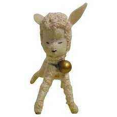 """Vintage German BAPS  Early Lamb from """"Mary had a Little Lamb"""" Set"""
