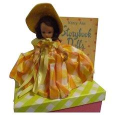 "Nancy Ann Storybook Doll ""Narcissus"" Garden Series MIB"