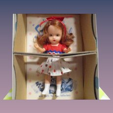 "Nancy Ann Storybook Doll ""Little Sister Goes To Sunday School"" Little Sister Series Boxed"