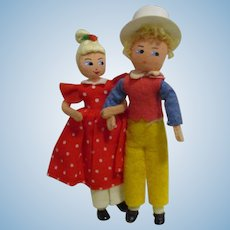 "Vintage German BAPS Dolls ""Peter Pumpkin Eater and Wife"" Set"