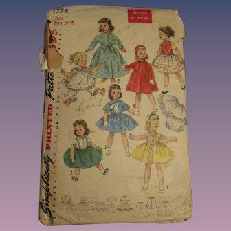 Vintage Simplicity Sweet Sue Doll Pattern #1779