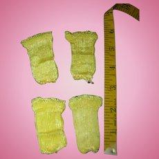 2 Pairs of Vintage Doll Rayon Socks