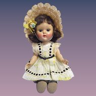 "Vogue 1954 PLW Ginny Doll in Tagged ""Wanda"" Outfit"