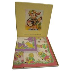 Vintage MIB Child's Hankies Box Set