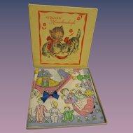 Vintage MIB Child's Nursery Rhyme Hankies Box Set