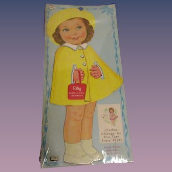 """Lowe """"Betsy Dress-A-Doll Storybook"""" Paper Doll Uncut 1964 MIP"""