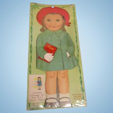 """Lowe """"Cindy Dress-A-Doll Storybook"""" Paper Doll Uncut 1964 MIP"""