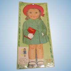 "Lowe ""Cindy Dress-A-Doll Storybook"" Paper Doll Uncut 1964 MIP"