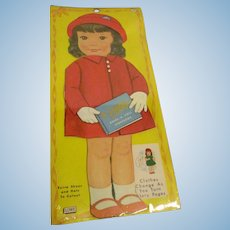 "Lowe ""Nancy Dress-A-Doll Storybook"" Paper Doll Uncut 1964 MIP"