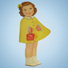 """Lowe """"Betsy Dress-A-Doll Storybook"""" Paper Doll 1964"""