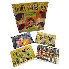 Vintage Original Dionne Quintuplets Lot of Book and 4 Post Cards