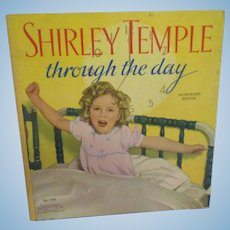 """Vintage Original Shirley Temple Book """"Shirley Temple Through the Day 1936"""