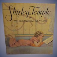 """Vintage Original Shirley Temple Book """"Shirley Temple in The Poor Little Rich Girl"""""""