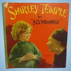 "Vintage Original Shirley Temple Book ""Shirley Temple in Stowaway""1937"