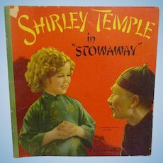 """Vintage Original Shirley Temple Book """"Shirley Temple in Stowaway""""1937"""