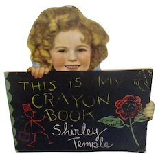 "Vintage Original Shirley Temple Book ""This Is My Crayon Book"" 1935"
