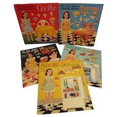 Dionne Quintuplets Paper Doll Books Set of 5 Uncut