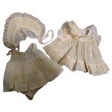 1930s Madame Alexander Vintage Dionne Quintuplet Dress Set