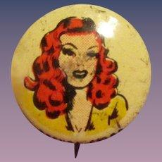 Vintage Brenda Starr Kellogg's PEP Pin Premium