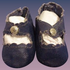 1950s Ideal Toni Original Navy Center Snap Shoes